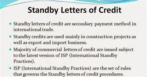 Payment Guarantee Standby Letter Of Credit Numerouno Business Consultants What Is Standby Letter Of Credit Sloc And Use Of That