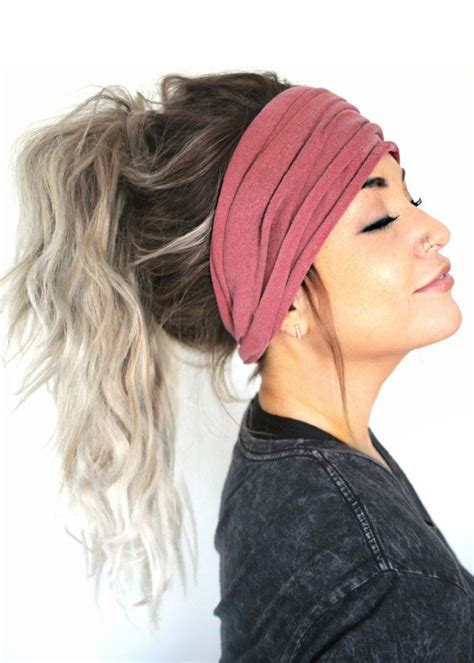 hairstyles for making head look wider mauve scrunch headband extra wide headband jersey by