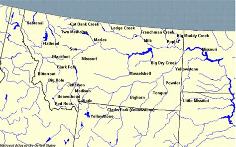 map of rivers in montana list of rivers of montana the wiki