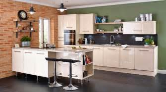 B Q Design Your Own Kitchen by Cooke Amp Lewis High Gloss Cream Kitchen Contemporary