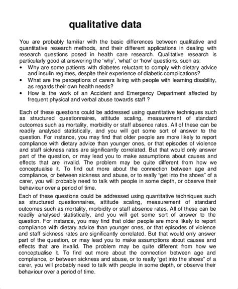 qualitative report sle qualitative research report template 28 images
