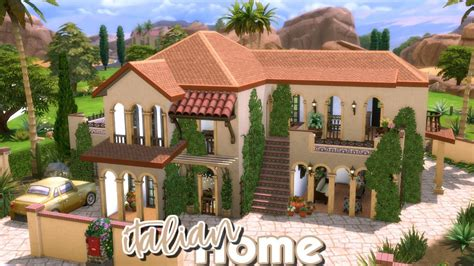italy houses the sims 4 speed build italian house build battle vs