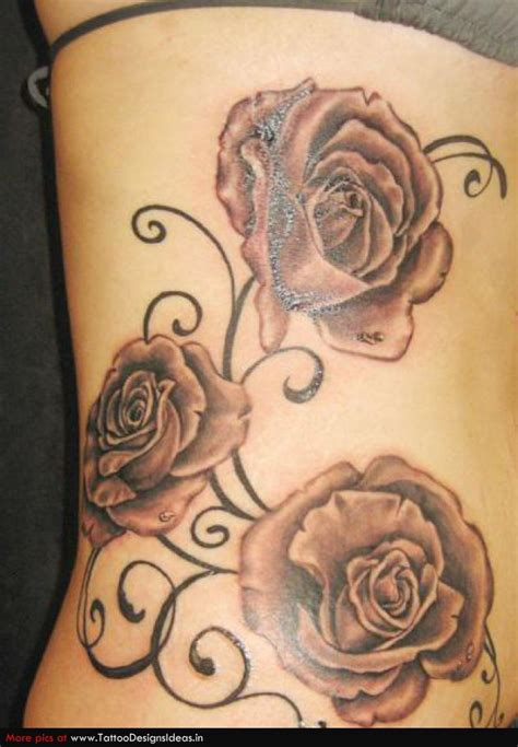 rose side tattoo designs images designs