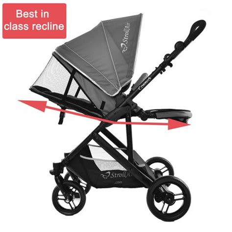 flat reclining stroller strollair cosmos single stroller walmart ca