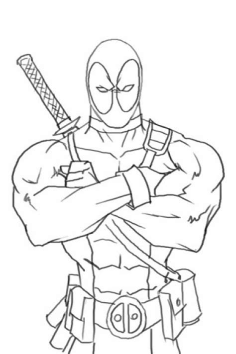 get this deadpool coloring pages free printable 655755