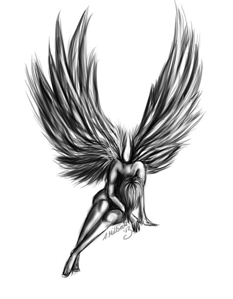 angel tattoo design by daniellehope 25 best ideas about designs on