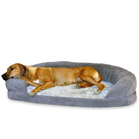 k h dog beds k h pet products gray orthopedic bolster sleeper dog bed