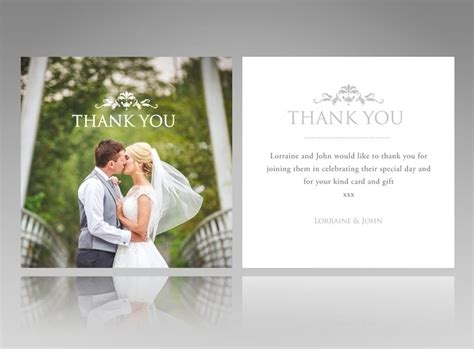 wedding photo thank you card template free creative wedding thank you cards larissanaestrada