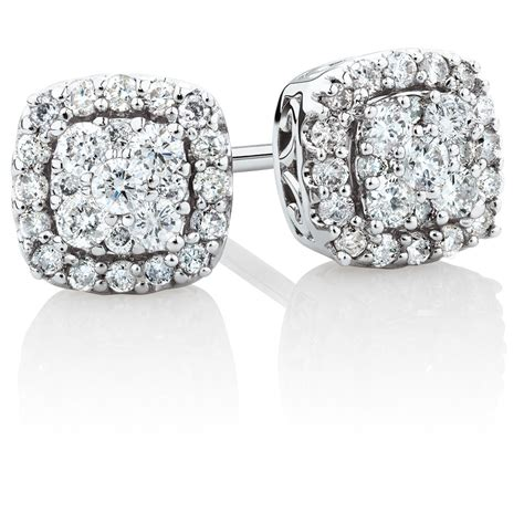 stud earrings with 1 3 carat tw of diamonds in 10kt white gold