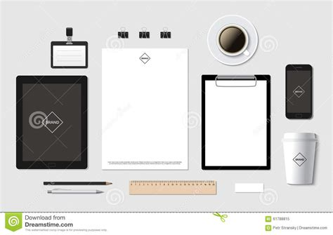Ci Template by Blank Branding Template Royalty Free Stock Photography