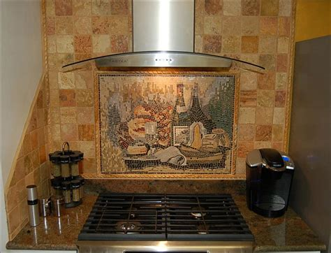 Kitchen Mural Backsplash Mosaic Kitchen Backsplash Tile Mural Creative Arts