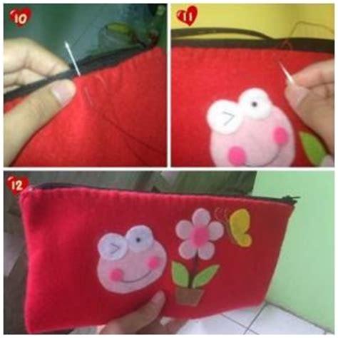 cara membuat kerajinan kain flanel tempat pensil cara membuat hiasan flanel dengan lengkap beserta bahan
