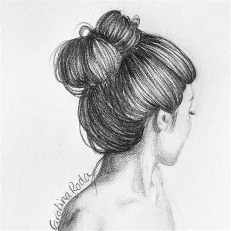doodle hair bun drawings szukaj w rysunki