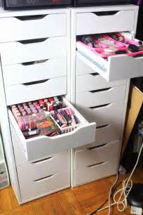 makeup diy ikea alex drawers for makeup