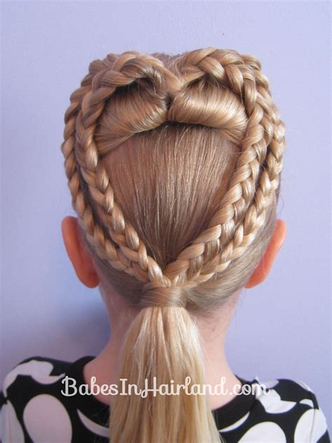 braided hairstyles heart 2 braided hearts valentine s day hairstyle babes in