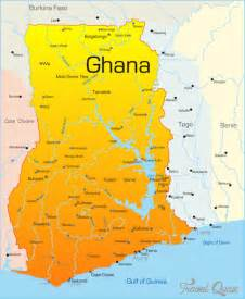 Ghana World Map by Ghana Map Travel Holiday Map Travelquaz Com