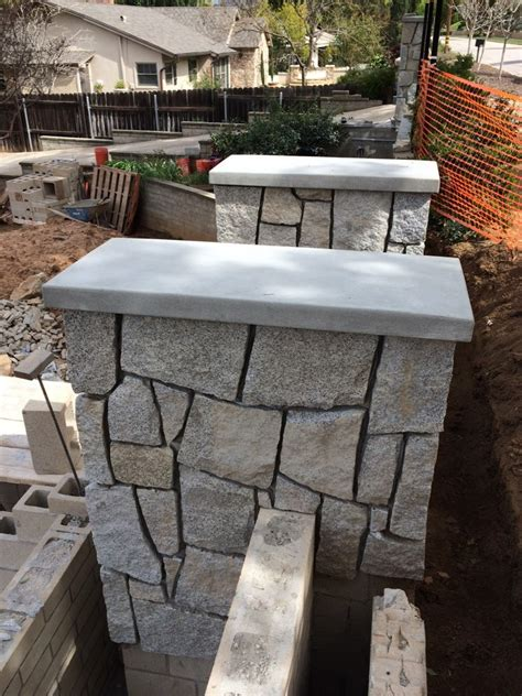 Concrete Wall Caps - site built concrete wall caps for masonry walls