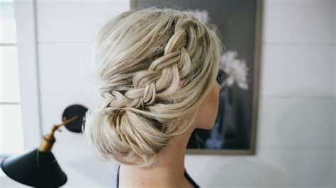 Fancy Bun Hairstyles by Fancy Braided Bun Updo Simple Steps
