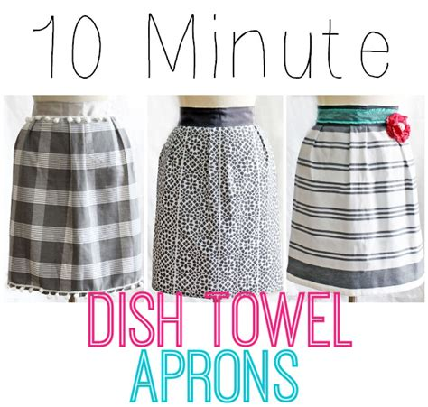 apron pattern from dish towel free sewing pattern ten minute dish towel apron
