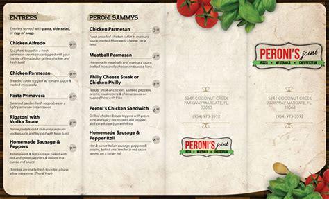 menu design jde menu design for peroni s joint on behance