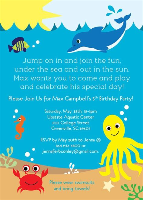 the sea invitations templates the sea birthday invitation printable boy or