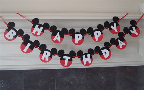 design banner mickey mouse diy mickey mouse banner happy birthday banner minnie