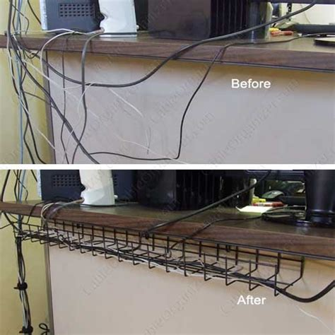 desk cable management tray under desk cable tray cableorganizer com
