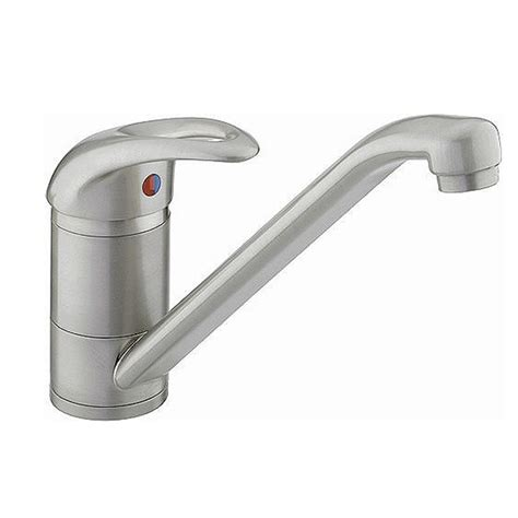 Soft Flow Kitchen Taps by Bristan Java Single Flow Easyfit Sink Mixer Steel J Sfsnk