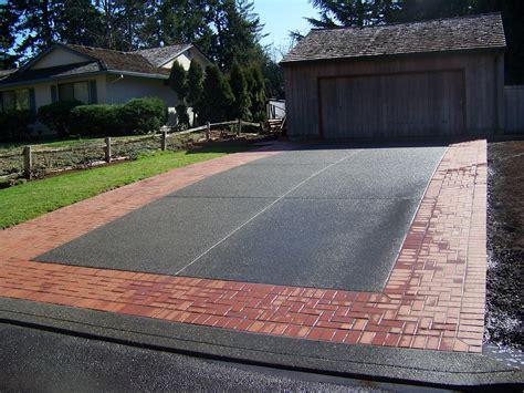 Patio Driveway Designs Concrete And Brick Combinations