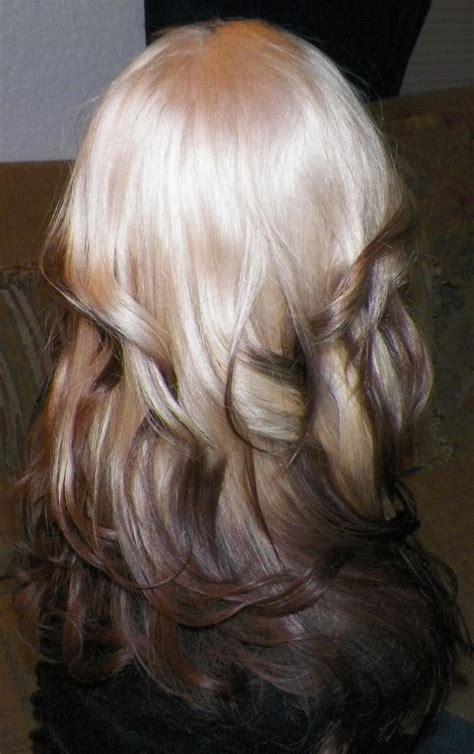 reverse ombre photos reverse ombre hair pinterest bleach blonde my hair