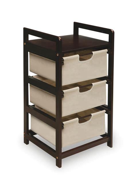 three drawer storage badger basket five basket storage unit with