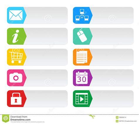 imagenes libres para paginas web botones coloridos para el web stock de ilustraci 243 n