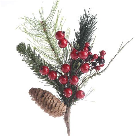 christmas artificial pine and cedar spray christmas