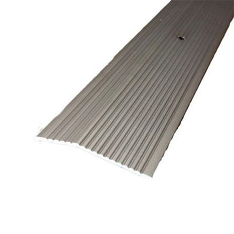 Floor Edging Strips Metal by Trafficmaster Pewter Fluted 36 In X 2 In Carpet Trim