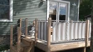 Balcony Awning Fabric Panels Installed On Deck Rails Youtube