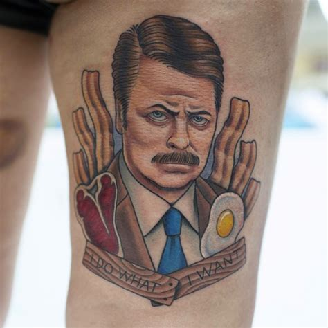 parks and recreation images swanson bacon and eggs