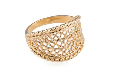 gold ring lace ring gold ring filigree gold ring trendy