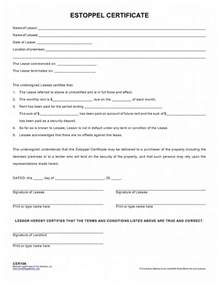estoppel certificate template employee certificate form motorcycle review and galleries