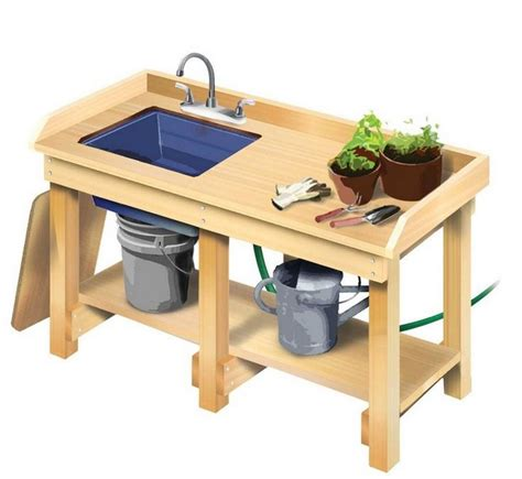 potting bench with sink 1000 ideas about garden work benches on