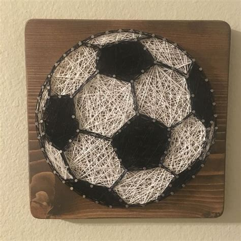 string art daisy handmade personalized gifts and home decor custom soccer string art sign sports art soccer ball