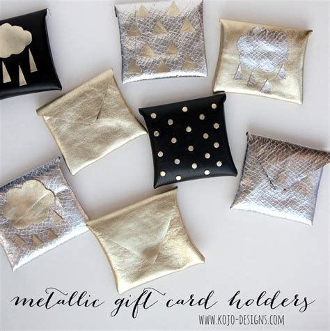 Make A Gift Card Holder - how to make metallic gift card holders