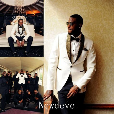 White Black Best Man Groomsman Men's Wedding/Prom 3 Piece