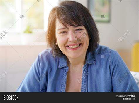 hairvstylesbforvfullerfacedb60 year old women portrait smiling 50 year old woman image photo bigstock