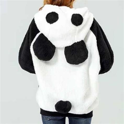Jaket Hodie Footpint Panda kawaii panda hoodie promotion shop for promotional kawaii