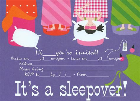 free printable birthday invitations 9 years old sleepover party invitation that is free to print just