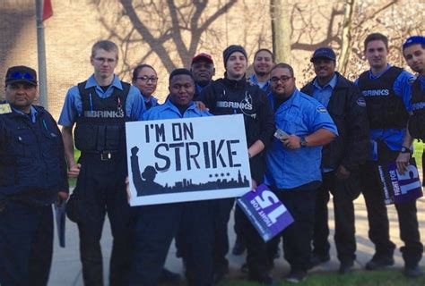 Brinks Security Guard by During Yesterday S Fight For 15 Protests Nearly 50 Chicago Armored Guards Decided To Go On Strike