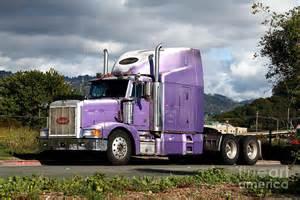 big rig truck purple peterbilt big rig truck 7d15085 photograph by