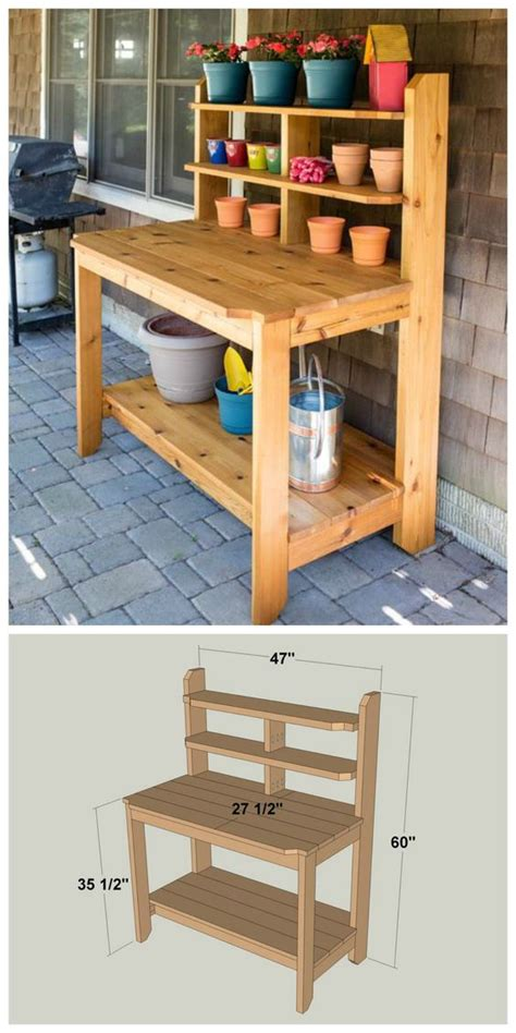 diy potting bench plans 1000 ideas about potting bench plans on pinterest potting benches pallet potting
