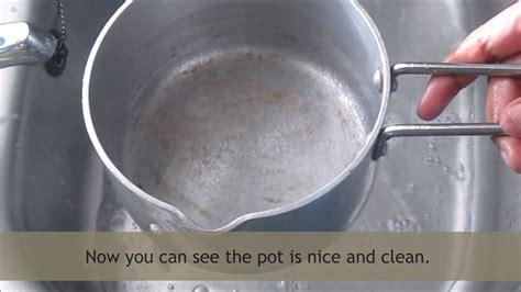 Scrub Aluminium how to clean aluminum pots burnt thecarpets co