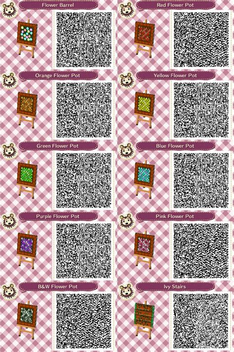acnl flower wallpaper qr acnl flower and stairs qr codes by acnl qr codez on